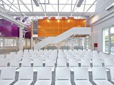 Multi chairs in #white colour by Fondazione Golinelli in #Bologna #ibebi #design