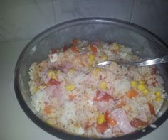 Arroz con delicias de la despensa de Cristina Menendez. Con Chef Plus Induction.