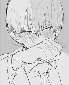 My Hero Academia - Todoroki Shouto My Hero Academia Shouto, Hero Academia Characters, Ken Tokyo Ghoul, Drawing Sketches, Drawings, Chibi, Anime Boyfriend, Cute Anime Guys, Anime Sketch