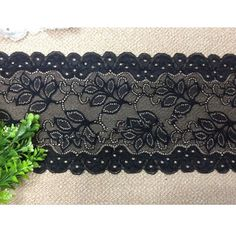 5-7/8' wide stretch polyester lace trims garment skirt clothes material DIY craft supply fashion accessory by 1 yard -- More info could be found at the image url.