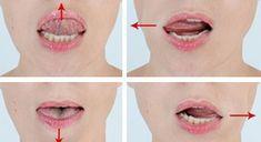 "Raise the corners of the lips: exercise ""Smile"": - Beauty Advice, Beauty Secrets, Beauty Hacks, Turmeric Mask, Diy Deodorant, Face Exercises, Diy Lip Balm, Face Yoga, Face Massage"