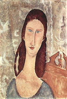 Amedeo Modigliani (Italian, 1884-1920): Jeanne Hebuterne in Red Shawl, 1917. - Google Search