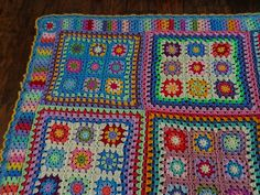 Lucy of Attic24's summer garden granny square blanket by tracylyn44