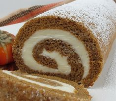 Perfect Pumpkin Roll tutorial My maw makes this absolutely amazing. Thanksgiving Desserts, Holiday Desserts, Holiday Baking, Just Desserts, Holiday Recipes, Delicious Desserts, Yummy Food, Fall Baking, Cupcakes