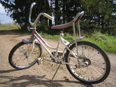 My bike was gold, the seat was gold sparkle and the streamers off the handle bars were gold. I was 8.