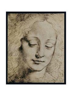 Head of a Young Girl Giclee Print by Leonardo da Vinci at Art.com