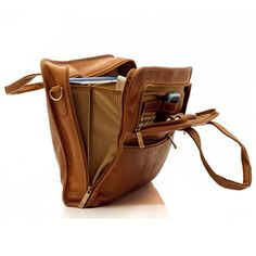 ce4586a7c7f4 Muiska - Milan - Slim Leather Portfolio Laptop Briefcase