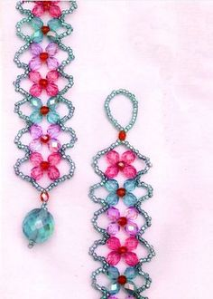 Easy 4 Petal Crystal Flower Beaded Bracelet Tutorials ~ The Beading Gem's Journal