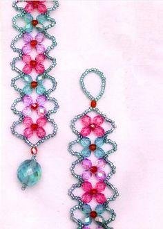 Easy 4 Petal Crystal Flower Beaded Bracelet Tutorials ~ The Beading Gem's Journal