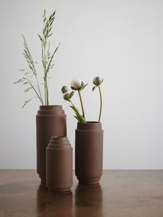 The terracotta vase from the Edge collection designed by Stilleben for Skagerak continues an ancient Greek-Egyptian tradition for craftsmanship in a sim.