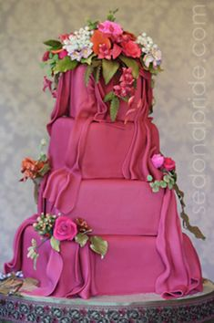 "Great work with the fondant drapery on this ""Sedona Cake Couture"" piece."