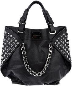 PIERRE BALMAIN  Black Studded Leather Shopper