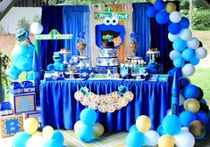 Kyrees cookie monster bash | CatchMyParty.com