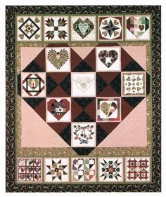 """Lovely quilts in this site This is the nicest sampler I've seen in a long time.  Not the standard """"blocks""""."""
