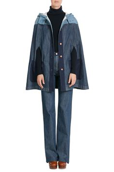 Denim Cape from SEE BY CHLOÉ | Luxury fashion online | STYLEBOP.com