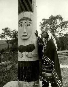 Skeena River Totem Poles-Wet'suwet'en 1950