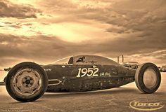 Old Crow Bonneville drop tank car