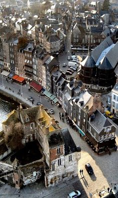 "Honfleur, Normandy, France - by Deltakap My first thought was ""the Battle of Normandy"" but look at it now !"