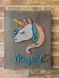 A personal favorite from my Etsy shop https://www.etsy.com/ca/listing/550027325/string-art-magical-unicorn-kids-unique