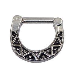 D&Min Jewelry 1pc Vintage 316L Septum Clicker - Stainless Steel Bull Ring Nose Piercing 14g D&Min Jewelry http://www.amazon.co.uk/dp/B017X8XOU4/ref=cm_sw_r_pi_dp_tenFwb0EKXEGH
