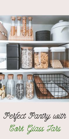 Credits @kodikkaasti  Cork Glass Mason Jar | Mason jar | Food Storage | Organization | Organizers | Order | Home decor | Kitchen Design | Kitchen Storage | Kitchen Accessories | Kitchen Tools | Storage | Space Saving  #corkjar #glasscorkjar #orderconcept