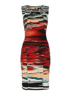 EPISODE Sunset Print Ponte Dress