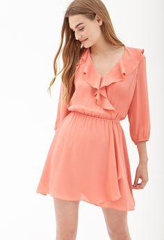 Ruffled Surplice Dress #SummerForever