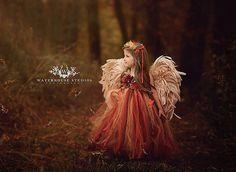 Woodland Fairy dress/ Red & gold fairy tutu/ Leaf fairy dress / Fairy gown / http://www.deerpearlflowers.com/flower-girl-dresses-shops/4/