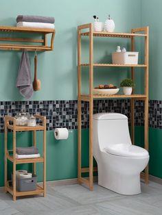 Accesorios de madera para baño Muebles Para Baños Pequeños b3ca607d47a5