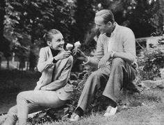 Fred Astaire and Audrey Hepburn on the set of 'Funny Face', 1957.
