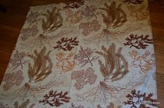 Amazing branches and sprays of coral in neutral browns and rust. Upholstery weight fabric I believe to be cotton bark cloth. Similar in weight to bark cloth. Designed by Architect and Interior Designer Felix Augenfeld. 3 yards x 47  No spots, tears etc. Excellent unused condition.   ************************************  PLEASE convo me if you have any further questions about this item or would like to see more pictures. I do my best to research items thoroughly before listing as well as…