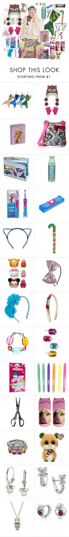 """tween girl stocking"" by sterlingkitten on Polyvore featuring Capelli New York, Disney, Cotton Candy, Hershey's, Gymboree, Boohoo and Bling Jewelry"