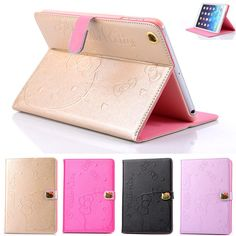 Hello Kitty Smart Cover Leather Case Stand For iPad Mini iPad 2 3 4 iPad Air 2 Leather Case, Pu Leather, Ipad Air 2 Cases, Ipad Stand, Apple Ipad, Ipad Mini, Hello Kitty, Tech, Wallet