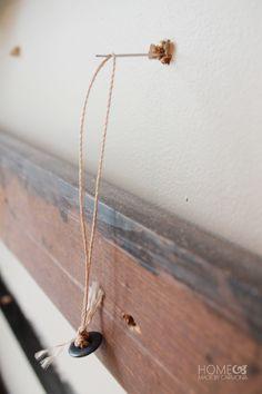 Upholstery needle and twine