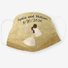 Bride and Groom Wedding Bridal Party Gold Glitter Cloth Face Mask wedding thank yous, junebug weddings, wedding dit #weddinginspiration #weddingtime #weddinggift, 4th of july party