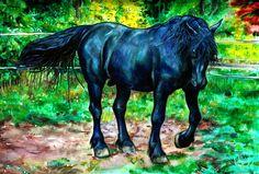 Black Horse painting by MrTuke ...