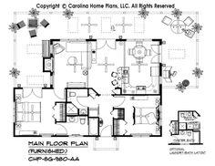 SG-980-AA Furnished Main Floor Plan