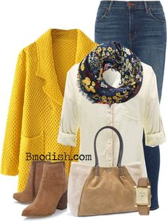 Stylish cardigans and coatigans for girls to check out you via the seasons. Outfits 2016, Fall Outfits, Cute Outfits, Fashion Outfits, Fashion Trends, Fashion Boots, Older Women Fashion, Womens Fashion, Yellow Clothes