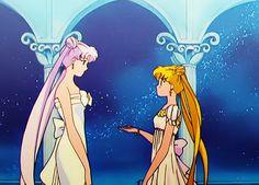 Queen Serenity and Princess Serenity - Sailor Moon; Original art from the anime. Bishoujo Senshi Sailor Moon, Tsukino Usagi, Princess Serenity, Neo Queen Serenity, Serena