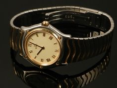 An Ebel lady's wristwatch in original fitted case and with documentation