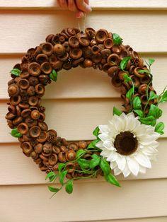 Acorn wreath natural wreath pinecone wreath by MaineMadeWreaths