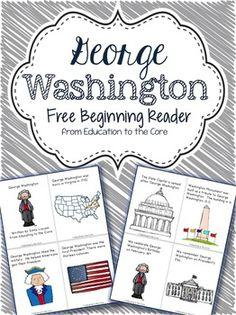 George Washington Beginning Reader Freebie