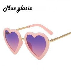 2019 Children Kids Sunglasses Fashion Heart Shaped Cute Designer Frame Eyewear Baby Girls Sunglasses Sun Glasses Uv400 Superior Materials Girl's Glasses