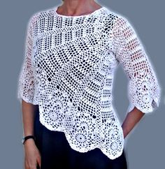 Free Shipping 20 Off Women's Crochet Sweater by InnaDavi on Etsy