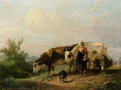 anton mauve paintings   Anton Mauve Paintings - Anton Mauve The Cowherdess Painting