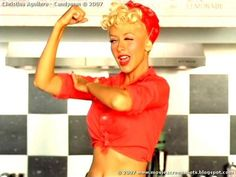 Pinup hair - bandana # love christina in this video :) awesome look