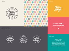 Dribbble - Los Churros Amigos by The Orca Design Co.