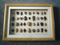 Paleolithic Arrowheads in 3D Frame, Authentic Saharan Artifacts 70,000BC (0003)