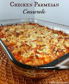 Emily Bites - Weight Watchers Friendly Recipes: Chicken Parmesan Casserole   8 PPV