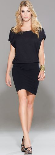 LBD Drop Waist - You might be able to achieve this with a black mini and a cute tee also!
